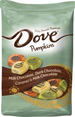 For Halloween Dove chocolate candies are presented in pretty spooky colours.  Photo: Mars