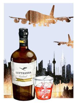 The Lufthansa Cocktail is a bottle-aged cocktail range and available online as well as in delis, high-quality retailers and duty-free shops. © mer, SMALL BIG BRANDS