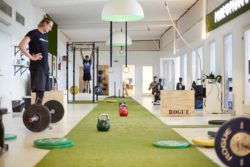 At PurePharma, the employees do not go to the cafeteria for lunch. They go for their workout.