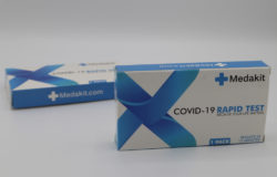 COVID-19 test kit packaging by Mediakit