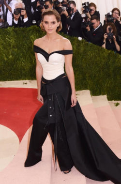 Beautiful and sustainable: Emma Watson in a Calvin Klein dress – made of waste plastic bottles. Photo: REX