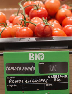 Tomatoes with price tag