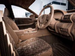 1,700 pieces of corrugated paperboard were used for the Cardboard Lexus. © Toyota (GB) PLC
