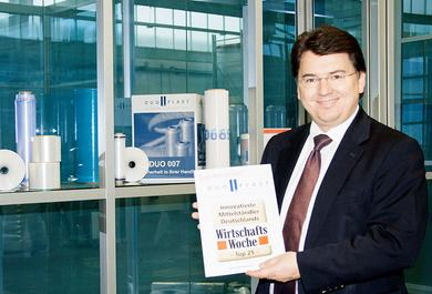 CEO Dr. Christian Rohm is happy about the award