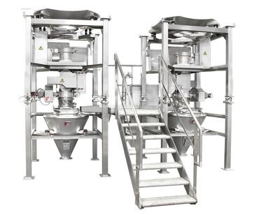 Twin bag emptying system