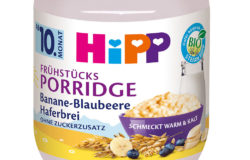 HiPP baby food in glass packaging