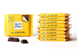 Ritter Sport prototype of chocolate packed in paper