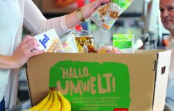 REWE cardboard carrier box