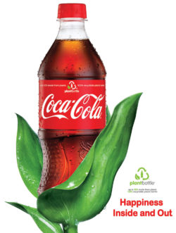 Coca-Cola already has a 30% share of the market with its plant bottle. In 2015 the bottle made of 100% renewable raw materials was already presented at the EXPO in Milan. Photo: CCBCU