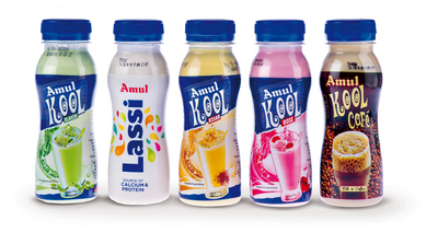 The new range of Amul branded milk based products bottled with GEA Procomac aseptic technology for PET containers