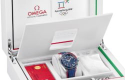 "Even Omega presents its ""Olympia"" watch in matching packaging. Photo: Omega"