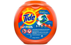 Single Tide pods are protected by childproof packaging which is impossible for little hands to open. Photo: The Procter & Gamble Company