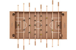 70% to 80% of this table football set is recyclable. Only the bars are made of wood. Photo: Kickpack
