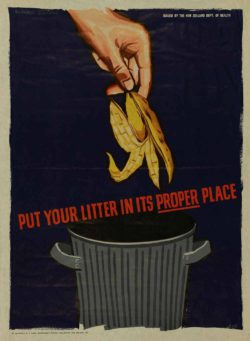 Health Poster 'Put your litter in its proper place' from Archives New Zealand, Flickr.com