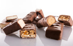 Slices of chocolate bars
