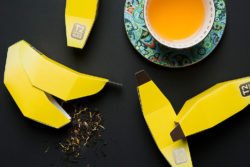 ETea that tastes of banana may seem a bit unusual at first. But what's equally unusual is undoubtedly the banana-shaped packaging. Photo: Designed by T2 Tea in house design - Christophe