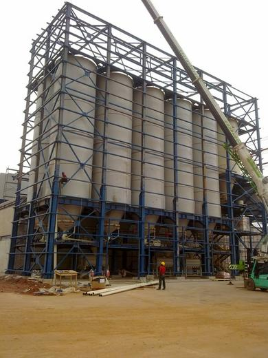 Pasta production plant in its final steps of construction