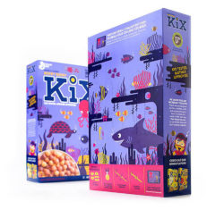KiX Boxes can be converted into spaceships, dragons or marine animals whisking kids away on exciting adventures. Photo: General Mills