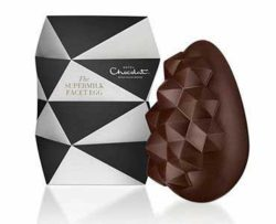 Luxury and elegance: Hotel Chocolat chose a diamond shape for its Supermilk Facet Egg 'Your Eggsellency'.  © Hotel Chocolat