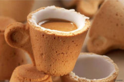 The Lavazza Cookie Cup can be eaten straightaway, after you've had your espresso.  © Lavazza