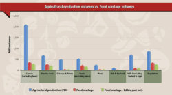Share of food losses compared with production volumes, by segments. Chart: FAO. http://www.fao.org/docrep/018/i3347e/i3347e.pdf