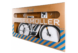 In 2015 the bicycle box for Riese & Müller was honoured with the German Packaging Award, as it was found to be a good cost-and-time saver with a customer-friendly opening system.