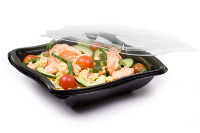 Coveris premium Wave salad bowl with optimal product visibility for fresh products