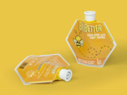 As a reward for taking medicine the pouch dispenses sweet honey at the end. Photo: Cambridge Design Partnership