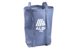 Blue ALDI carrier bag