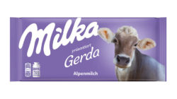 Milka chocolate with real cow