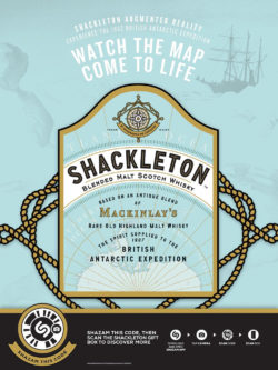 Enjoy icy cold and go on an expedition to the Antarctic with the AR packaging of Shackleton Whisky. Photo: PRNewsfoto/Shackleton Whisky