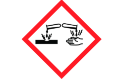 GHS05: Corrosive/ Pictogram: www.reach-compliance.ch