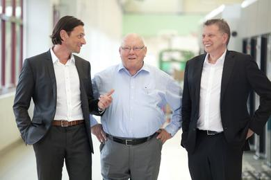 Gerhard Schubert GmbH's leading trio (l. to r.): Gerald Schubert, Gerhard Schubert and Ralf Schubert.