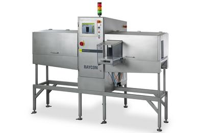 At the Interpack 2014 S+S demonstrates the RAYCON 130/240 product inspection system for slim and high products. (Photo: S+S)
