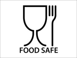 This food safe symbol can be found on food contact materials, indicating that hazardous substances cannot migrate from the material to the food. Photo: Tsvetina, Fotolia.com