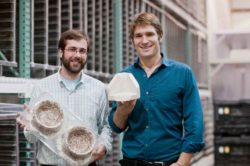 Eben Bayer and Gavin McIntyre – founders of Ecovative. © Ecovative