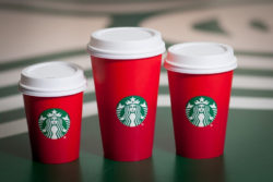Starbucks: 25 per cent of all drinks to be offered in reusable cups.