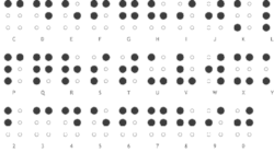 With Braille six dots can be turned into 64 different characters. Photo: PharmaBraille