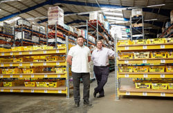 The business partners, Dan Cluderay and Andy Needham, deliver short-dated foods and items which are past the best-before date to about 600 households with your company approved foods. © Approved Food