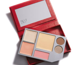 Cosmetics palette in red