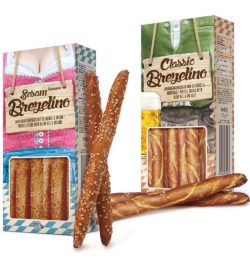 The Brezelinos come in 150 g packages.
